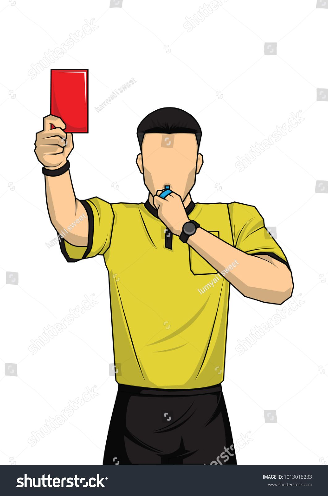Soccer Referee Showing Red Card Referee Stock Vector Throughout Soccer Referee Game Card Template Best Template Ideas In 2020 Soccer Referee Red Card Soccer