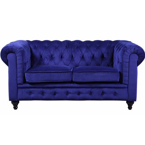 Found It At Wayfair Adaline Classic Scroll Arm Tufted Velvet Loveseat Love Seat Chesterfield Style Sofa Tufted Loveseat