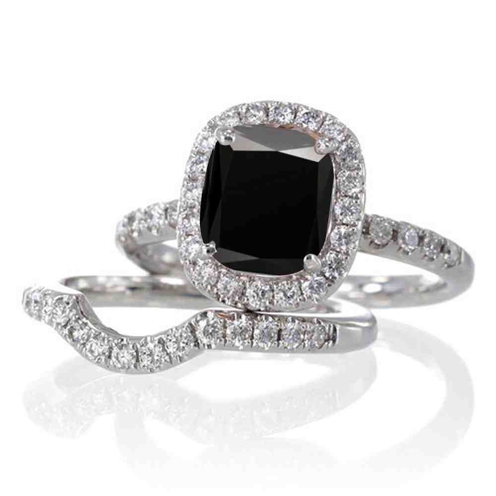 Black Diamond Wedding Ring Sets For Women With Images Black