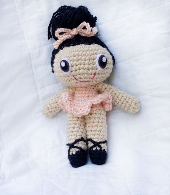 Customize Your Own Ballerina Doll Crocheted by thefadedwildflower, $18.00