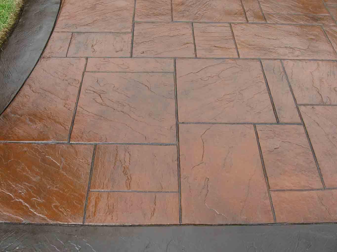 Ashlar Concrete Stamping Stamped Concrete Small Ashlar Slate 17 Concrete Decor Stamped Concrete Slate