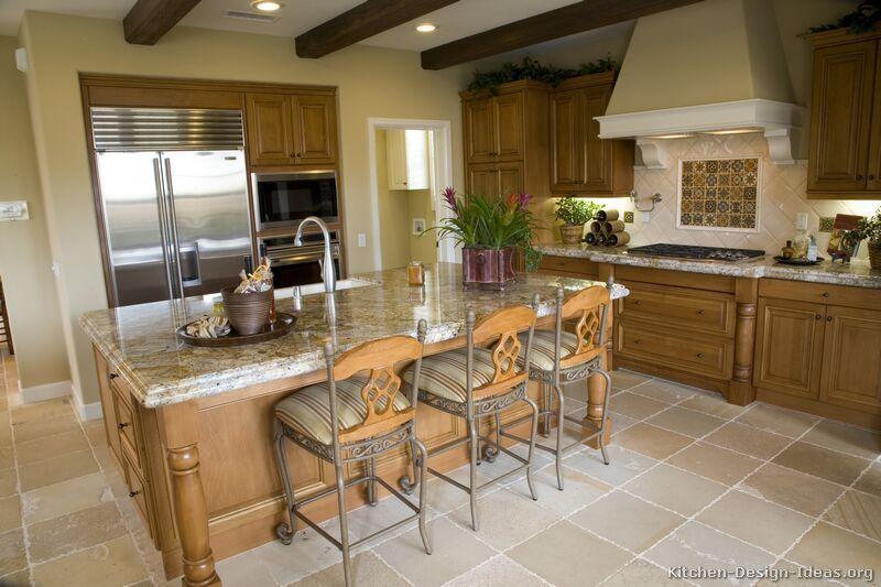 Traditional Medium Wood Brown Kitchen Cabinets #28 (Kitchen Design Ideas.