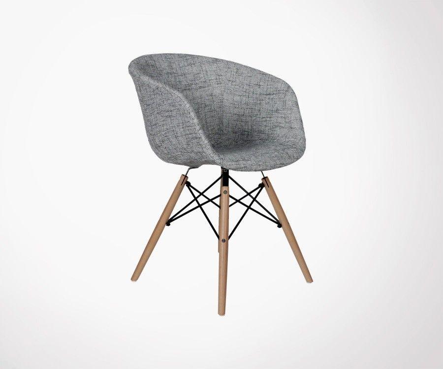 Chaise Design En Tissu Rembourre Style Scandinave Et Moderne