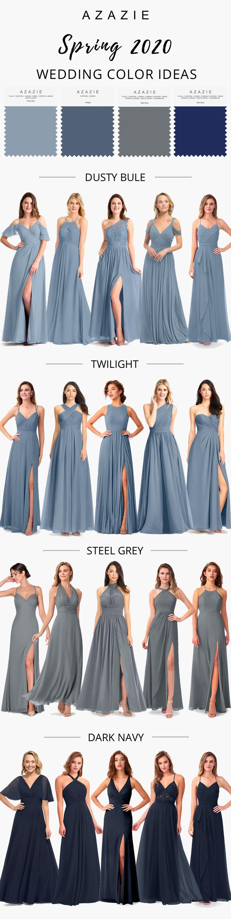 Blue Bridesmaid Dresses Blue Bridesmaid Dresses Blue Bridesmaids Bridesmaid Colors [ 3178 x 800 Pixel ]