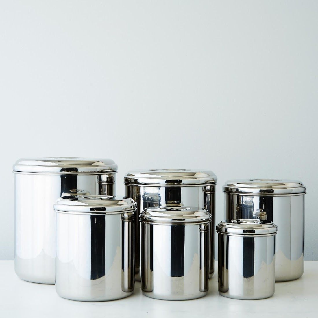 Stainless Steel Canisters Set Of 6 Stainless Steel Canister Set Decorative Kitchen Canisters Stainless Steel Canisters