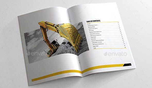 Awesome 24 Cool Construction Brochure Templates Diseo Pinterest