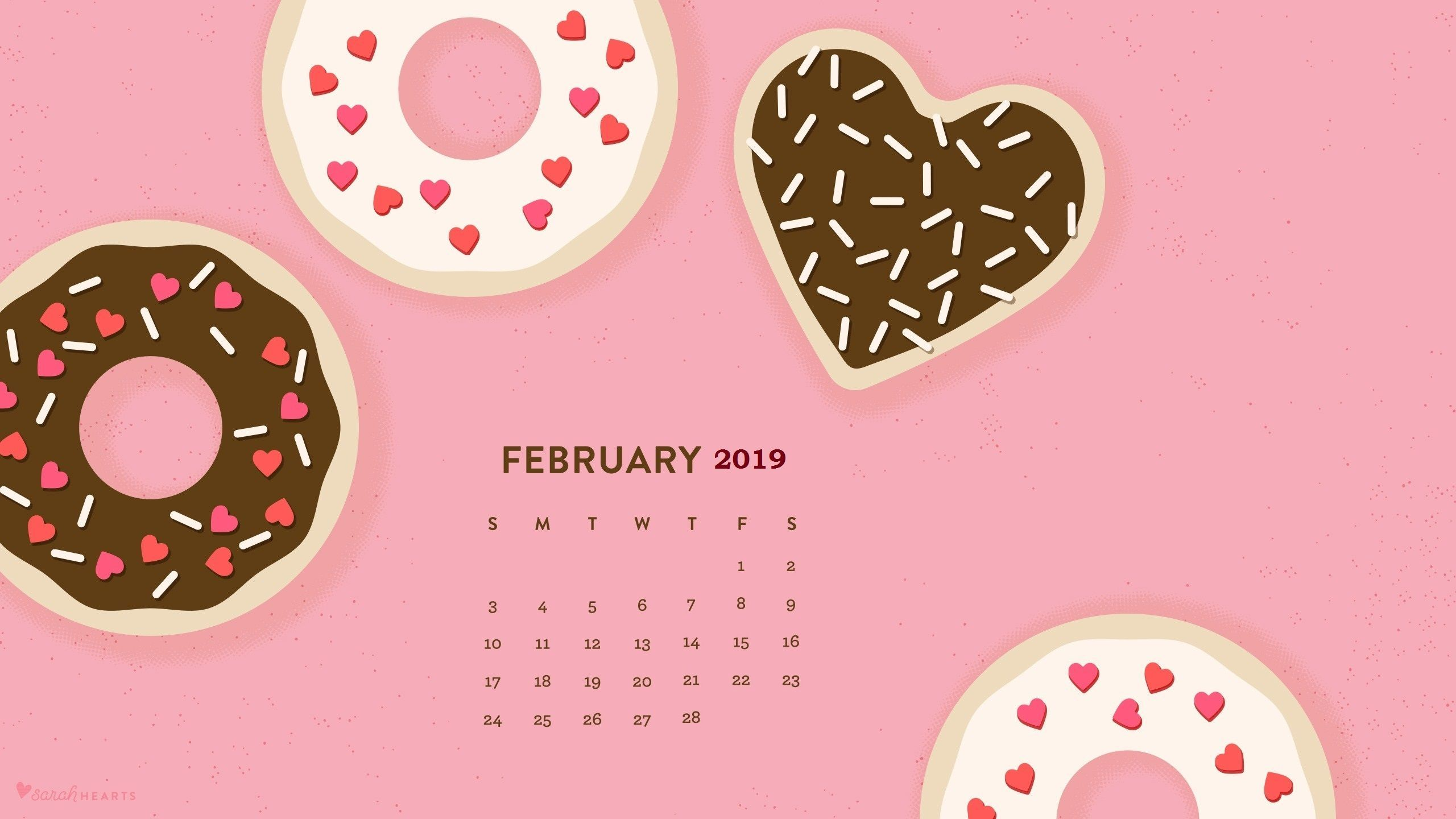 February 2020 Desktop Calendar Wallpaper (With images