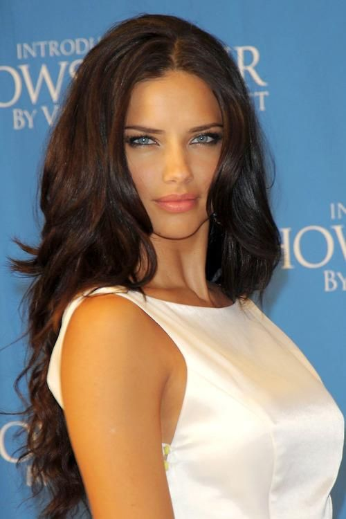 Adriana Lima #brownhair #blueeyes #hot
