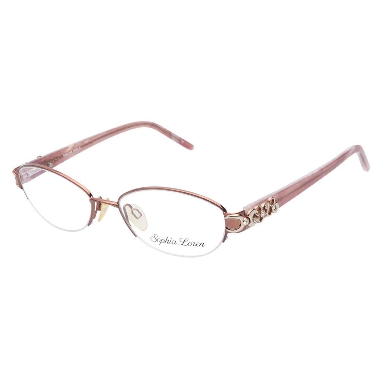 Sophia Loren M196 168 Cognac eyeglasses are beautifully elegant ...