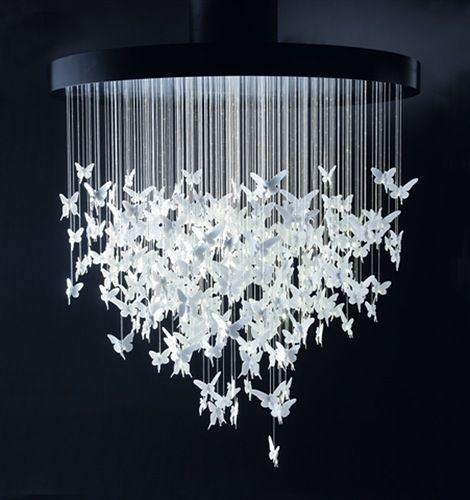 Papillons De Lumiere Au Plafond Lustre Diy Idee Deco Deco
