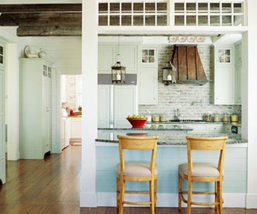 offene küchen küchenspiegel blau kompakt stehstuhl holz | Küche ...