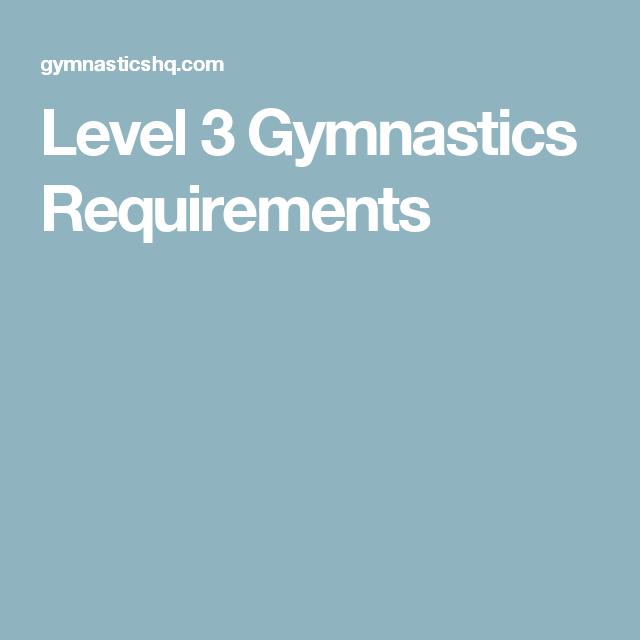 Level 3 Gymnastics Floor Drills