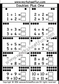 doubles plus one 1 worksheet doubles doubles plus one math doubles 1st grade worksheets. Black Bedroom Furniture Sets. Home Design Ideas