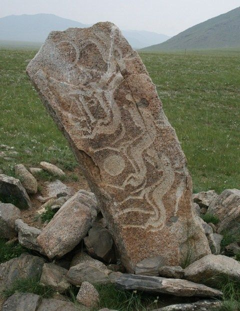 Mongolian deer stone stones also known as reindeer
