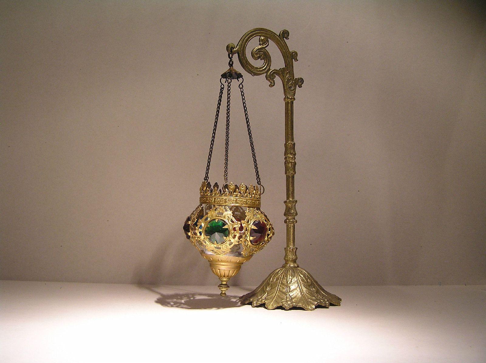 Antique Gothic Jeweled Fairy Lamp   eBay   FAIRY LAMPS ...