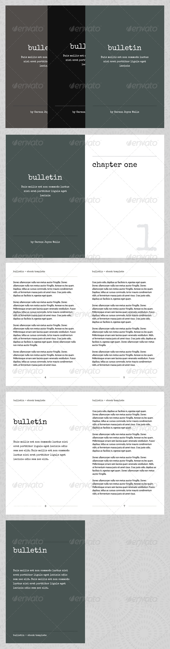 Bulletin  Ebook Template Or Print Book  Template Print