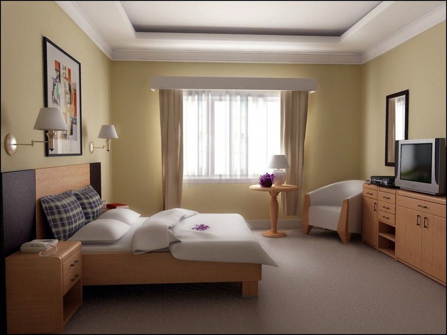 Bedroom Decorating Ideas Color Schemes Light With Yellow ...