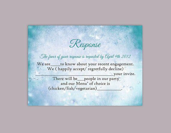 diy wedding rsvp template editable word file instant download rustic rsvp template printable rsvp cards teal
