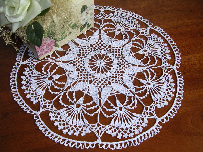 Crochet doily napkins napperon centro ad uncinetto centro pizzo ad ...
