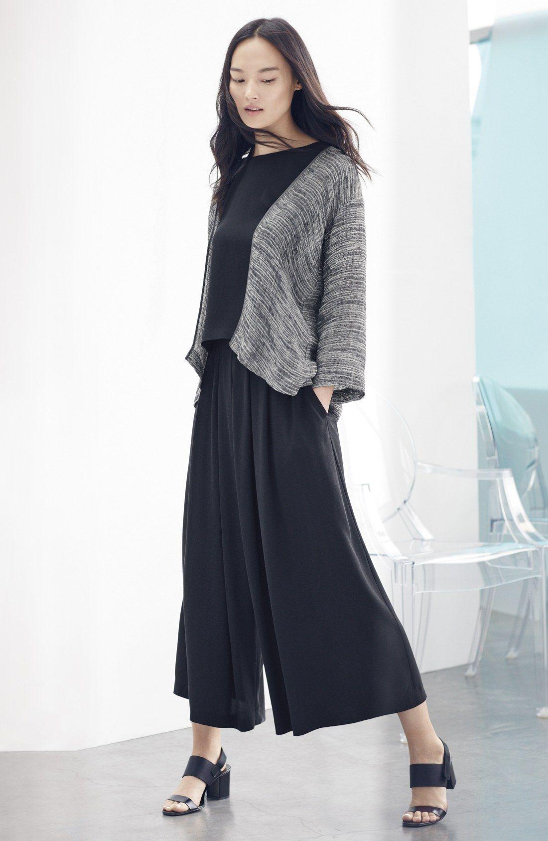 Eileen Fisher Kimono Jacket, Shell & Wide Leg Pants