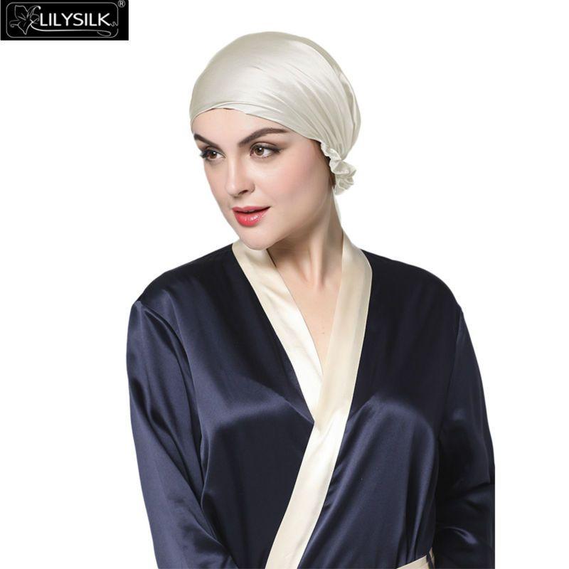 (Buy here: http://appdeal.ru/2mbc ) Lilysilk 100% Silk Satin Sleep Cap Women 19 Momme Elegant Ribbon Decoration Hair Care Night Cap Free Shipping for just US $74.00