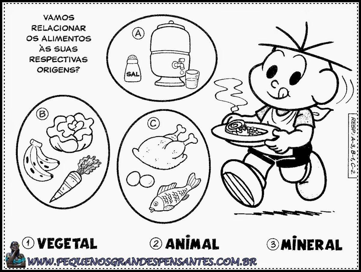 Atividades Sobre Alimentacao Na Educacao Infantil Turma Da