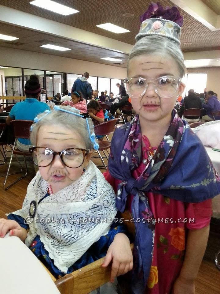 Simple and Easy 100 Year Old Lady Costume... Coolest Homemade Costumes  sc 1 st  Pinterest & Simple and Easy 100 Year Old Lady Costume | Pinterest | Ladies ...