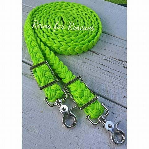 CLEARANCE: Lime/Neon Green Adjustable Riding Reins