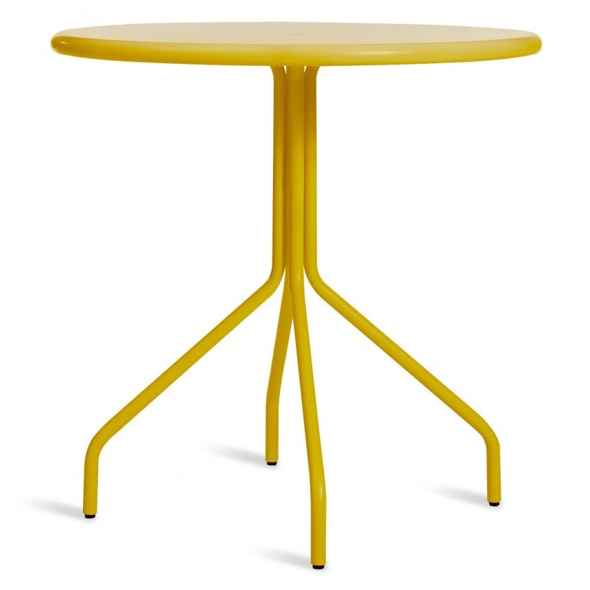 Beautiful Yellow Round Cafe Table