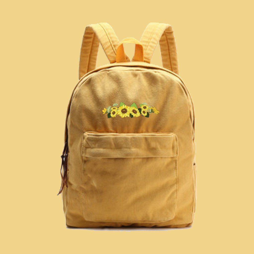 fe8d2a2c5 FLOWER CHILD-Tumblr-Aesthetic backpack in 2019 | Backpacks | Canvas ...