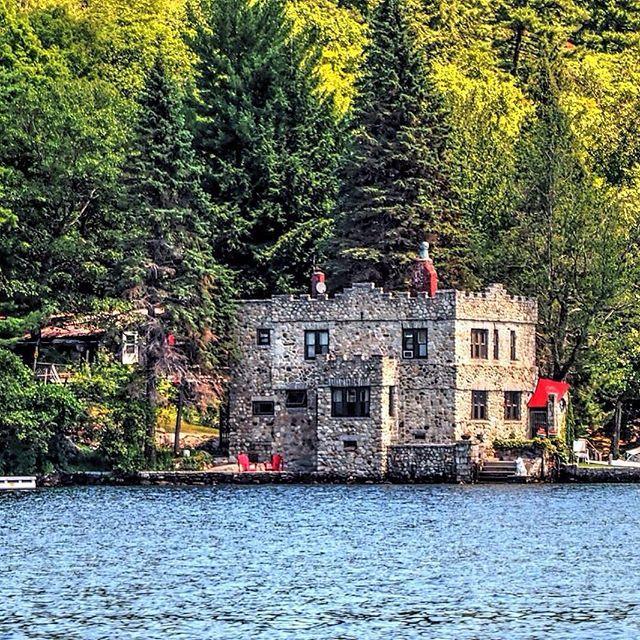 """""""Castle On Sleepers Island On Lake Winnipesaukee"""
