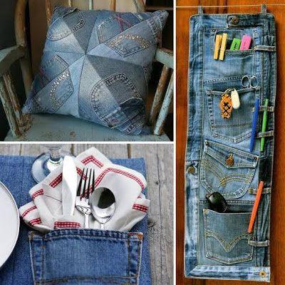 3 ideas para reciclar jeans viejos cosas para hacer con - Cosas para reciclar ...