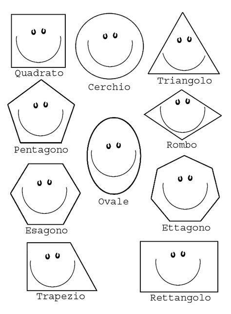 Giochi E Colori Disegni Da Colorare Le Forme Geometriche