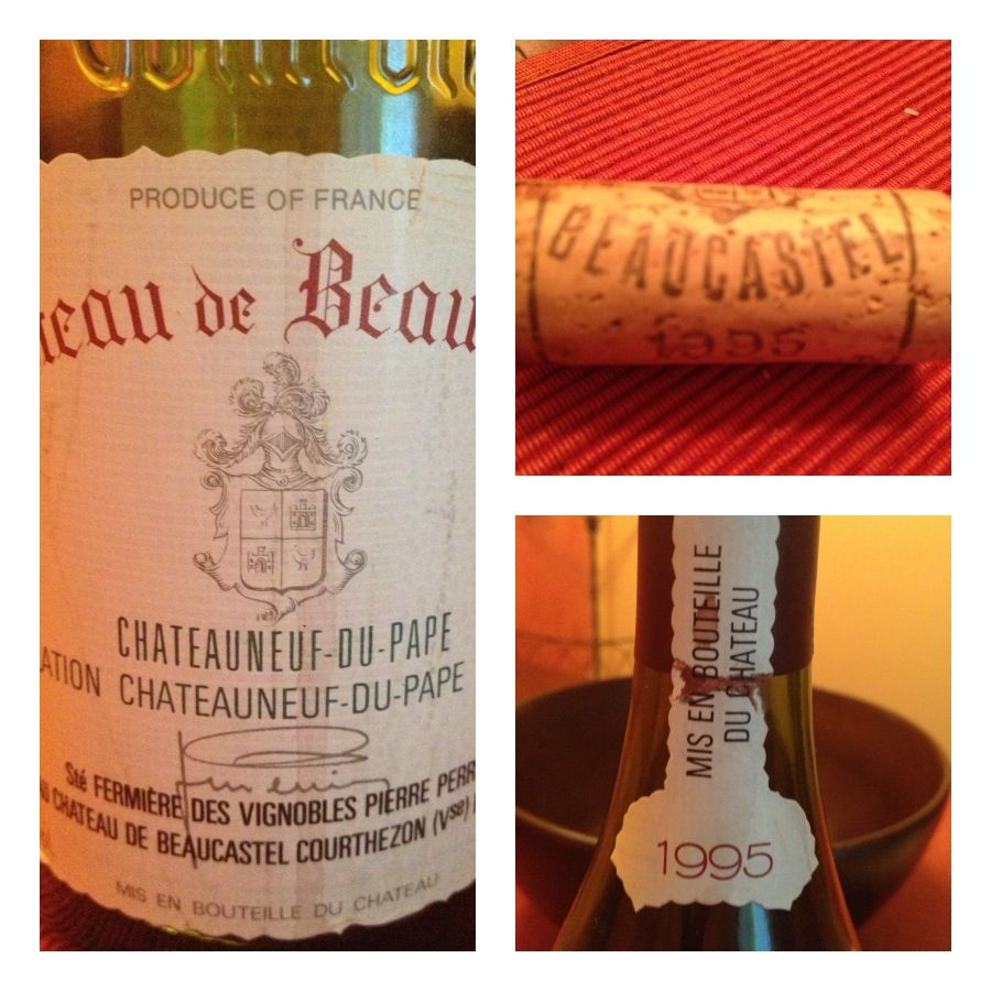 After The Newton Chard We Moved Onto This Lovely 1995 Beaucastel Very French Very Nice An Excellent Bridge Between Wine Bottle Rose Wine Bottle Grape Juice