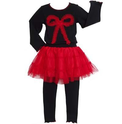 Ballerina in red tutu design on child/'s t-shirt printed in Great Britain.