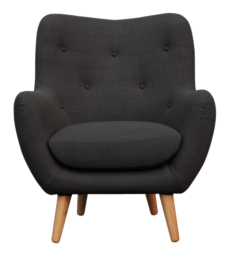 Breyton Fauteuils Fauteuil Gris Anthracite Tissu Habitat Single Seater Sofa Modern Sofa Designs Single Seat Sofa