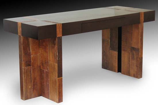 Wood Furniture  Decor  Desk Dark Wood Contrasting Wood