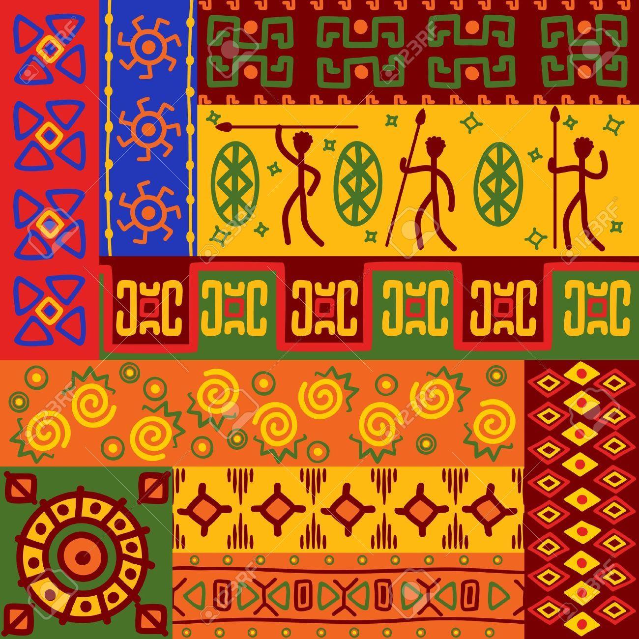 Zusammenfassung Afrikanischen Ethnischen Muster Und Ornamente Fur Design Ethnische Muster Afrikanische Muster Musterkunst