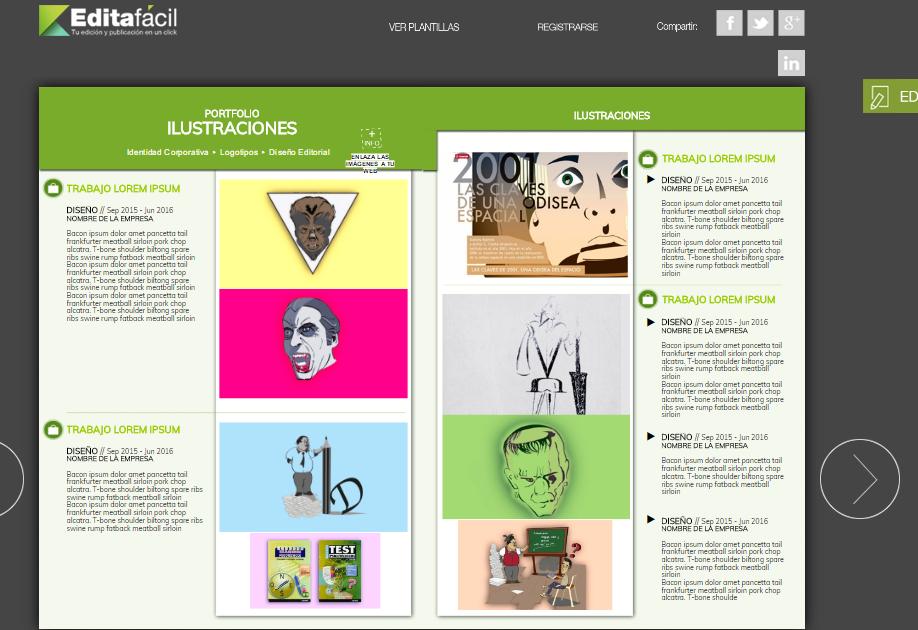 Crear Portafolios Digitales con Plantillas Gratis - Flipsnack