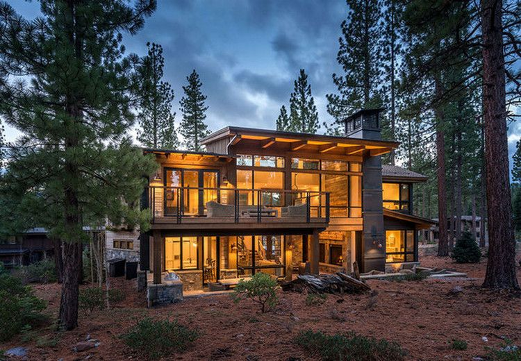 These Rustic Luxury Houses Are Stone And Wood Perfection 30 Photos Suburban Men Rustic House Luxury Homes Architecture