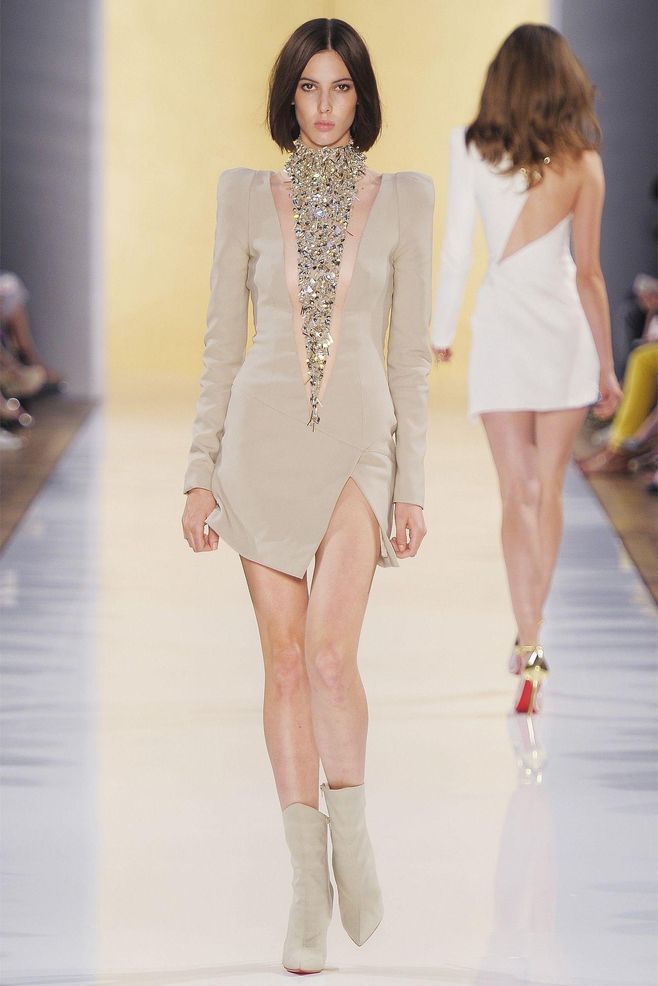 Ruby Aldridge at Alexandre Vauthier haute couture, fall 2012