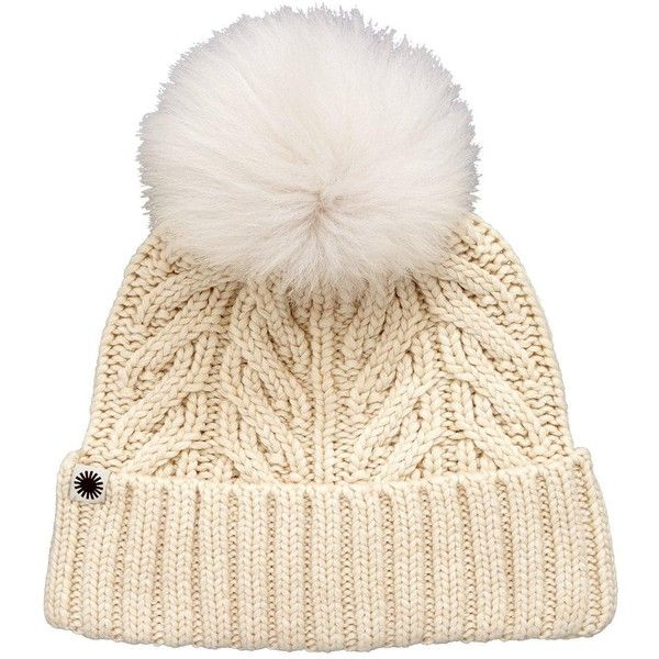 24354721b7d Ugg Textured Cuff With Pom Pom Detail Hat ( 78) ❤ liked on Polyvore  featuring accessories