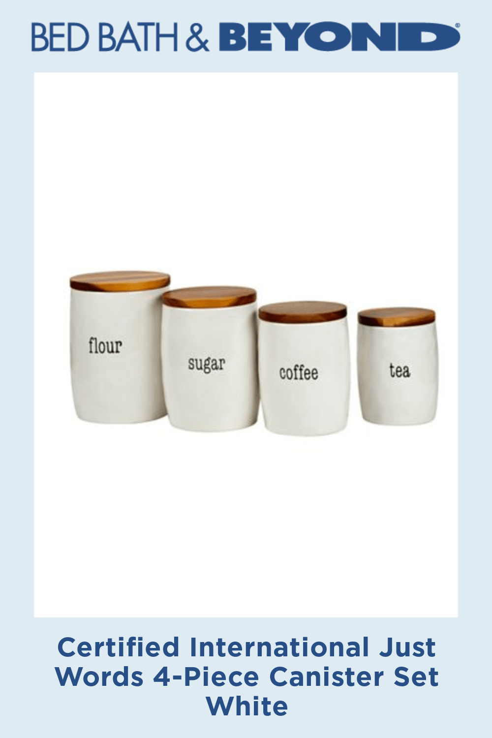 Certified International Just Words 4-Piece Canister Set