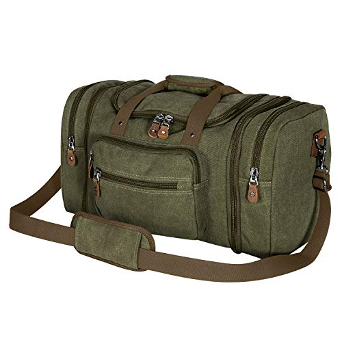 Plambag Canvas Duffle Bag for Travel 50L Duffel Overnight Weekend Bag