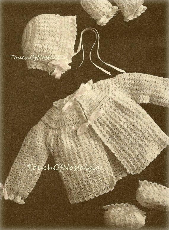 Crochet baby layette vintage crochet pattern heirloom lace baby crochet baby layette vintage crochet pattern by touchofnostalgia7 dt1010fo