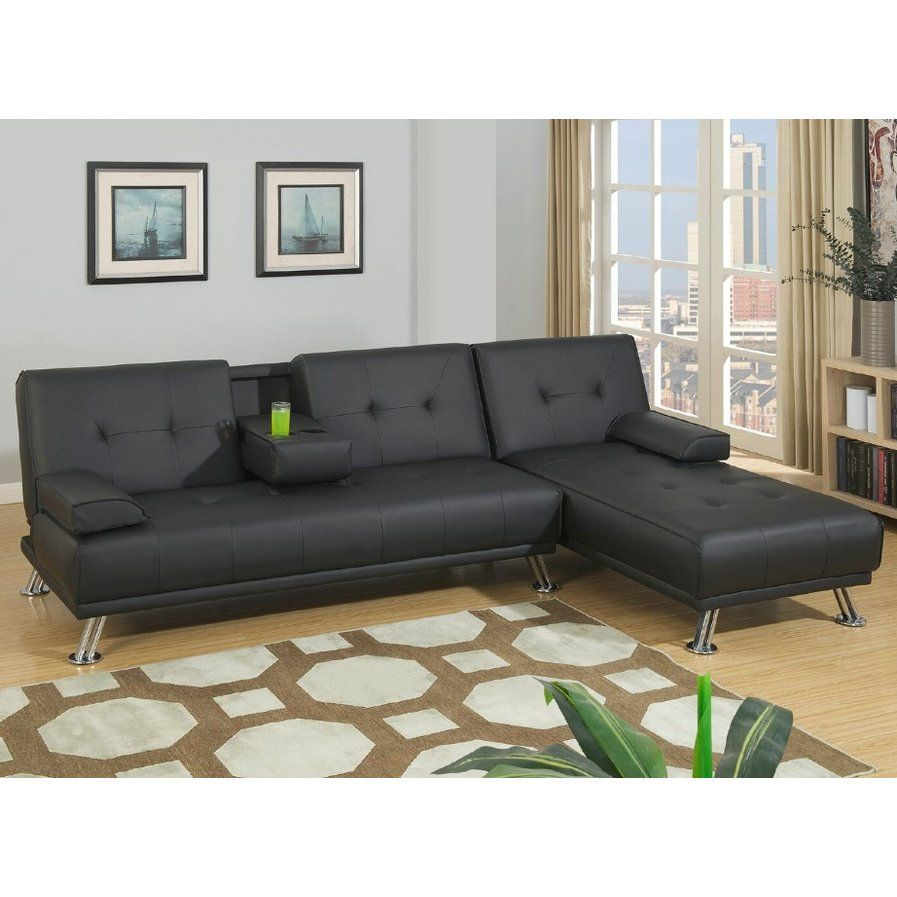 Canyon Sleeper Sectional Sofa Bed With Chaise Futon Sectional Sectional Sofa Couch