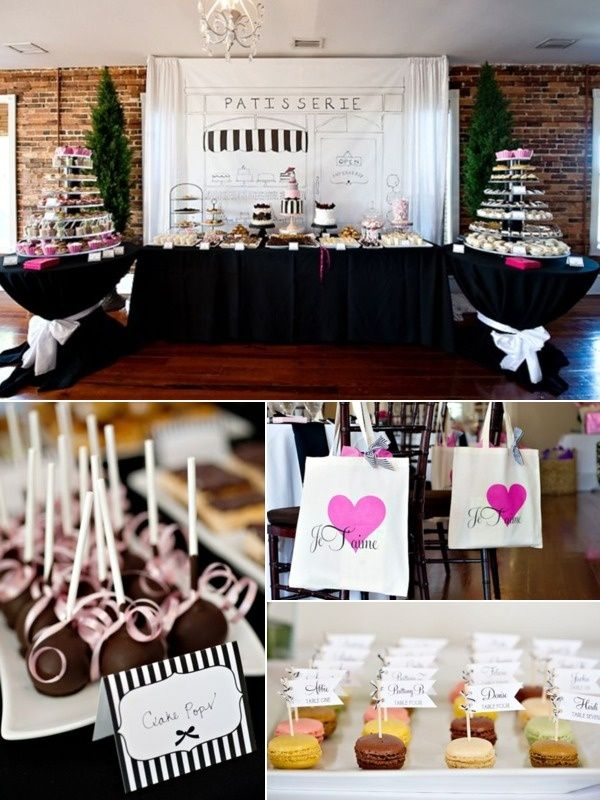 Parisian Dessert Table Weddingideas Dessertbar Desserttable Pariswedding Wedding