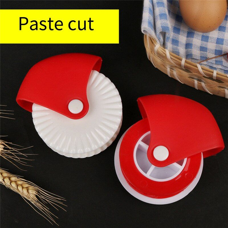 Pizza Pastry Lattice Cutter Pastry Pie Decoration Cutter Plastic Wheel Roller MA