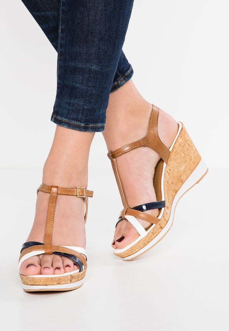 hot sale online c5979 a101c Tamaris Sandales compensées - cognac - ZALANDO.FR | ♥ shoes ...