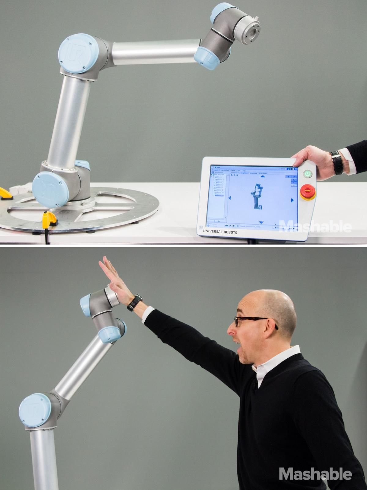 Robot Arm performs epic high five | Tech & Gadgets